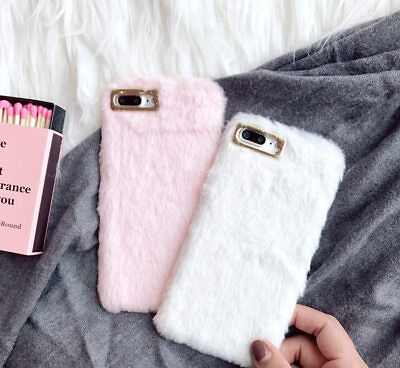 Cute Warm Soft Fur Faux Case For IPhone XS Max 8 7 6 Plus XR Plush Fluffy Cover • 4.95£