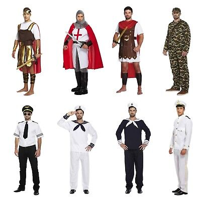 Adult Male Mens Fancy Dress Dressing Up Costume Outfit Navy Army Pilot Roman • 16.38£