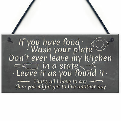 £3.99 • Buy Kitchen Signs Mum Nan Nanny Plaque Vintage Wall Shabby Chic Funny Birthday Gifts