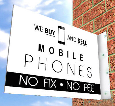 MOBILE PHONE SHOP SIGN For SHOP FRONT , Aluminium Wall Sign, IPhone, Samsung Etc • 49£