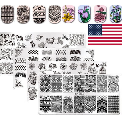 $3.49 • Buy BORN PRETTY Nail Art Stamping Plates Image Stamp Templates  Design Tools