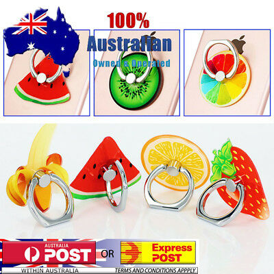 AU7.95 • Buy Cute Fruit Finger Ring Holder Pop Stand Grip IPhone Phone Socket Melon