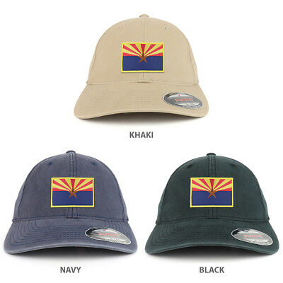 241098bc XXL Oversize Washed Arizona State Flag Iron On Patch Flexfit Cap • 19.99$