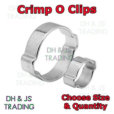 £19.95 • Buy DOUBLE EAR CLAMP O CLIPS - Crimp O Clip Air Silicone Petrol Water Fuel Hose Pipe