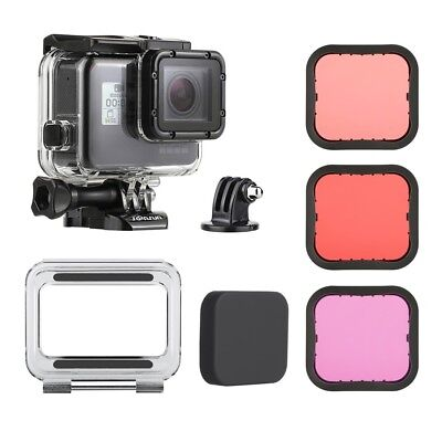 $ CDN28.04 • Buy Underwater Waterproof Housing Case + Dive Color Filter For GoPro Hero5 6 7 Black
