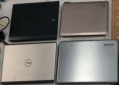 $ CDN549.09 • Buy Lot Of 4 Laptops + Dell Latitude + Toshiba Satelite + Dell Vostro + HP DM4 WIN10