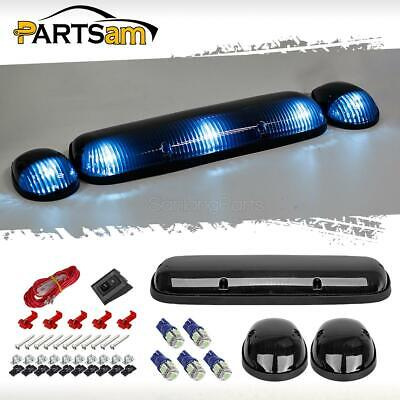 $32.92 • Buy 3xSmoke Cab Roof Top Clearance Lights+161 5050 Ice Blue LEDs For Chevy/GMC 02-07