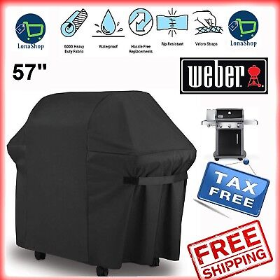 $ CDN34.40 • Buy Weber BBQ Gas Grill Cover 57  Genesis Spirit Series Outdoor Barbeque Heavy Duty