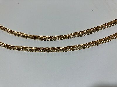 £3.99 • Buy New Arrival22ct Gold Plated Indian Pak Pair Of Anklet Payal *layered Gold Chain*