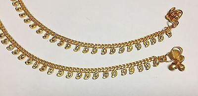 £4.99 • Buy New 22ct Gold Plated Leaf Arrival Indian Pakistani Pair Of Anklet Payal Chain Uk