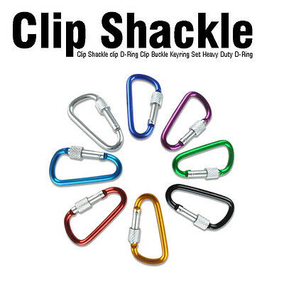 New Clip Shackle Clip D-ring Clip Buckle Keyring Set Heavy Duty D-ring Buckle • 2.19£