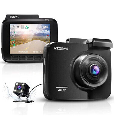 AU113.34 • Buy 4k Dash Cam With Gps WiFi Car Video DVR Recorder Dual Cameras For Front And Rear