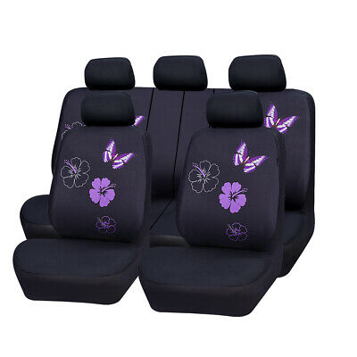 AU37.99 • Buy Car Seat Covers Butterfly For Women Girls Purple Universal For Honda Toyota Ford