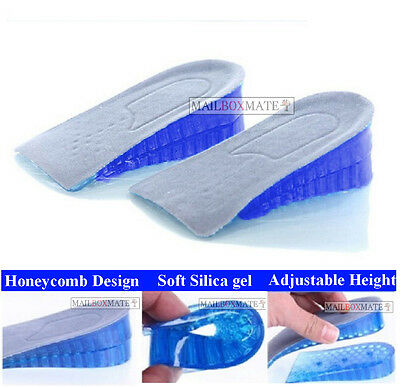 Honeycomb Gel Heel Lifts Height Increase Insoles Shoe Inserts Pads Raise  • 3.85£