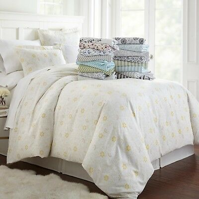 $22.99 • Buy Ultra Soft 3 Piece Patterned Duvet Cover Set Summer Collection By Linen Market