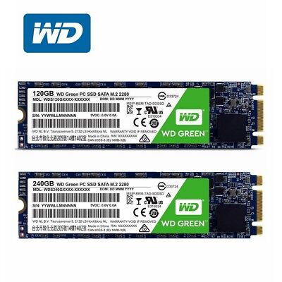 AU52.95 • Buy SSD M.2 120GB 240GB 480GB WD Green Western Digital Internal Solid State Drive