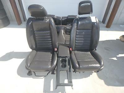$1595 • Buy 2005-2009 Ford Mustang Shelby Gt500 Black Leather Front/rear Seats W/console