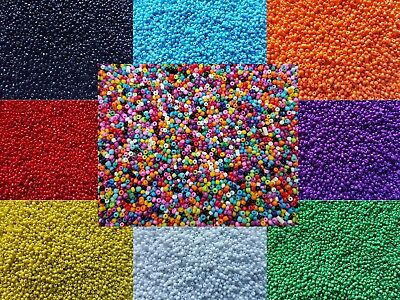 3000 Opaque Glass Seed Beads Size 11/0 2mm 50g For Jewellery BUY 4 FOR 3 • 1.79£