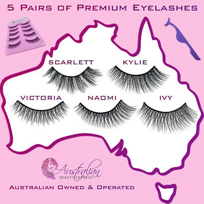 AU2.49 • Buy AU Stock 5 Pairs 3D Natural Thick Long Makeup Fake Eyelashes False Eye Lashes