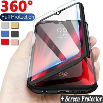 $0.99 • Buy For Xiaomi Redmi 8A 7A 6A Note 8 7 6 5 Pro 360° Full Cover Case + Tempered Glass