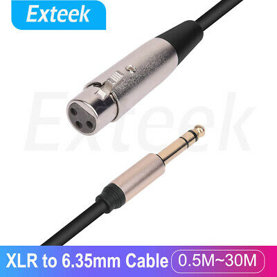 AU7.95 • Buy XLR Female To 6.35mm 1/4 '' Male Microphone Stereo Audio Cable TRS Jack Lead/Mic