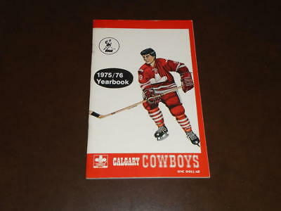 $99.99 • Buy 1975-76 Calgary Cowboys 1st Year Wha Yearbook Media Guide Ex-mint