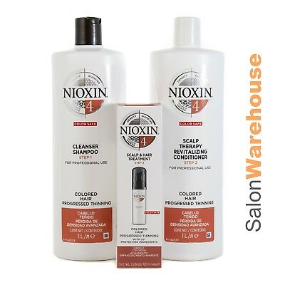 AU114.95 • Buy Nioxin System 4 Cleanser  Revitaliser & Treatment New Release Litres And 100ml