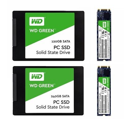 AU50.95 • Buy SSD 120GB 240GB WD Green Western Digital Internal Solid State Drive 2.5'' M.2