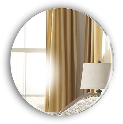 Wall CIRCLE Acrylic Bathroom Mirror No Drilling Required Personalised 4 FREE • 5£