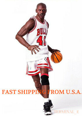 $23.35 • Buy Custom Michael Jordan 1/6 Scale White Chicago Bulls Jersey 23 For Enterbay Body