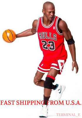 $25 • Buy Custom Michael Jordan 1/6 Scale Red Chicago Bulls Jersey 23 For Enterbay Body