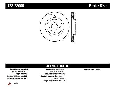 $ CDN185.50 • Buy Disc Brake Rotor Fits 2005-2011 Lotus Elise Exige  CENTRIC PARTS