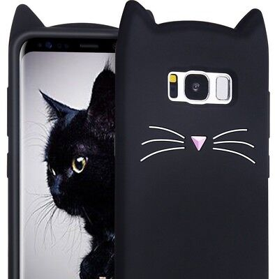 $ CDN10.41 • Buy Samsung Galaxy Phones - Soft Silicone Rubber Skin Case Cover Black Cat Whiskers