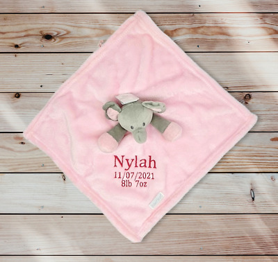£6.99 • Buy Personalised Baby Elephant Comforter  Blankie/Blanket Gift - Quality Gift Soft T