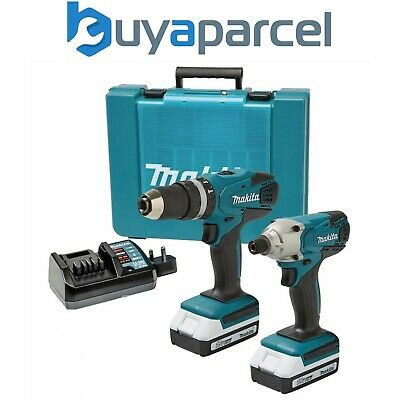 View Details Makita 18v Cordless Li-ion Combi Hammer Drill & Impact Driver Twin Pack Lithium • 142.49£
