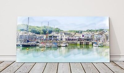 £24.95 • Buy Padstow Harbour Canvas Print Cornwall Framed Picture