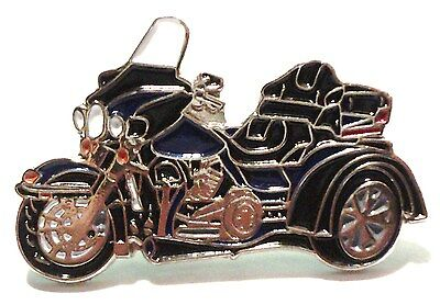 Blue & Black Trike 3 Wheeled Bike Biker Motorcycle Motorbike Metal Enamel Badge  • 2.69£
