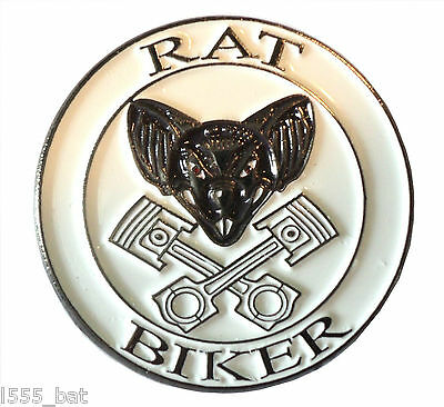 Rat Biker Rat Look Rider Custom Bike Motorcycle Motorbike Metal Rocker Badge  • 2.69£