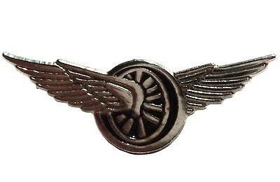 Winged Wheel Speed & Freedom Biker Motorcycle 23mm Motorbike Metal Enamel Badge • 2.69£
