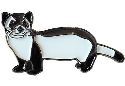 Ferret Polecat Wild Animal Pet 35mm Metal Enamel Pin Badge Brooch NEW • 2.49£