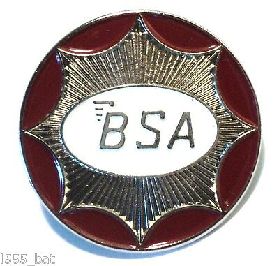 BSA Classic 1960s British Biker Motorbike Ton Up Boy Metal TT Motorcycle Badge • 2.69£