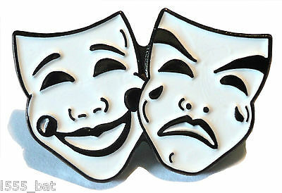 £2.69 • Buy Comedy And Tragedy Theatre Masks Acting Stage Theatrical Performing Arts Badge
