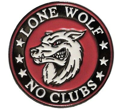 Lone Wolf No Bike Clubs Biker Rocker Metal Enamel Motorcycle Motorbike Badge NEW • 2.69£