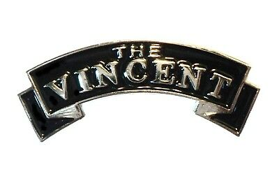 Classic The Vincent 1960's British Rocker Motorbike Motorcycle Metal Bike Badge • 2.69£