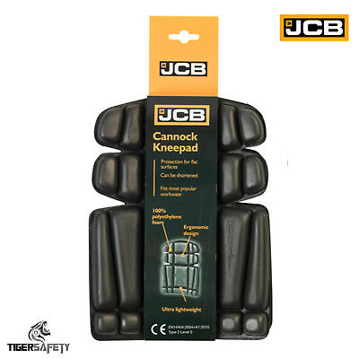 JCB Cannock Black Foam Knee Pads Kneepad Insert For Work Trousers Coveralls Etc • 8.90£