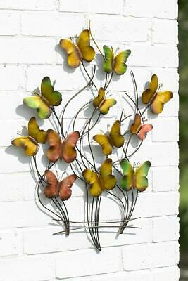 Large Metal Butterfly Wall Art Garden Decoration 3D Outdoor Or Indoor Ornament • 36.98£