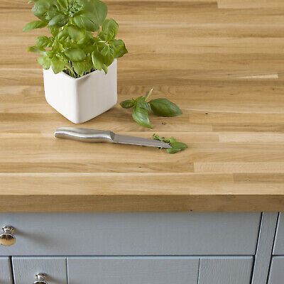Solid Oak Worktop 40mm Thick 1M 2M 3M 4M, A Grade Oak Timber Kitchen Worksurface • 24.99£
