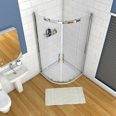Quadrant Shower Enclosure Walk In Glass Cubicle Door And Tray Plinth 760,800,900 • 198.99£