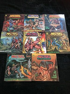 $280 • Buy Lot Of 8 Rare Masters Of The Universe Books