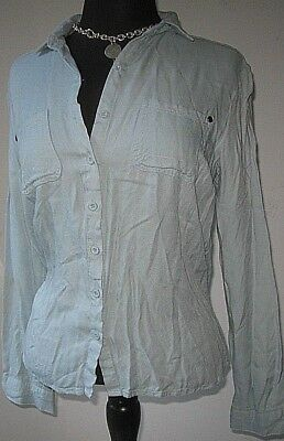 $13.99 • Buy Sans Souci Women's Blouse Button Shirt Top Green Size Medium Excellent